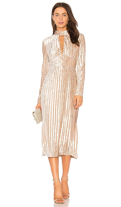 THE JETSET DIARIES Veronica Midi Dress in Beige