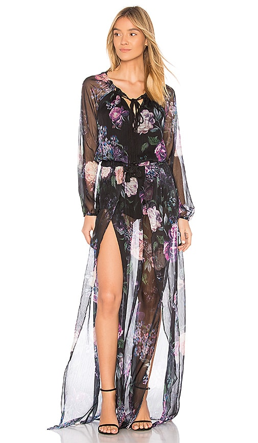 THE JETSET DIARIES Peony Maxi Dress in Black