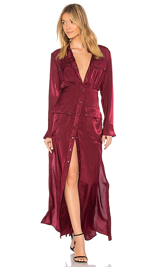 THE JETSET DIARIES Gia Maxi Dress in Wine