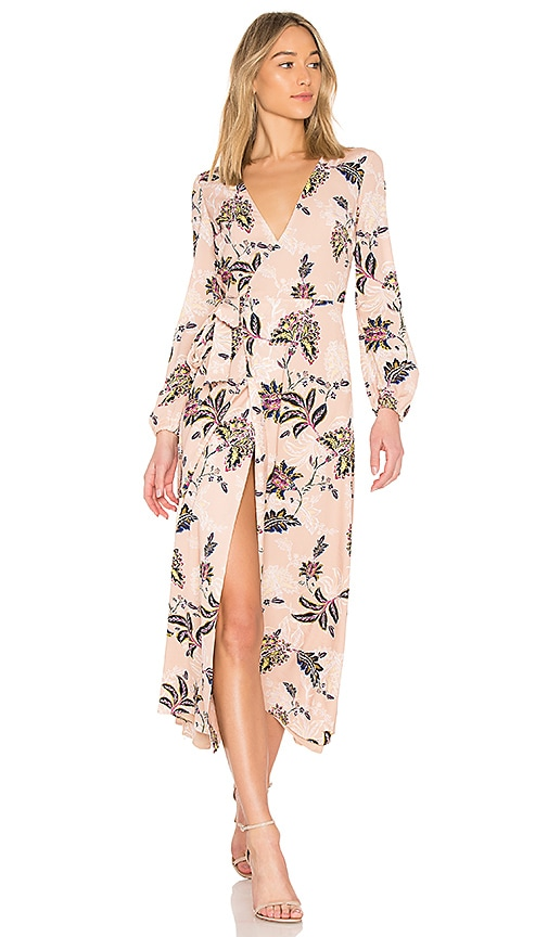 THE JETSET DIARIES Fluid Wrap Midi Dress - Pink