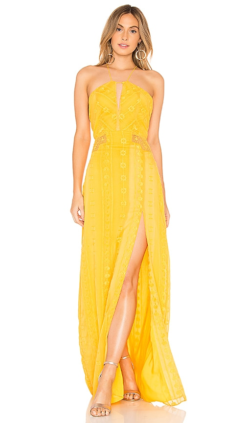 THE JETSET DIARIES Alynna Maxi Dress in Yellow