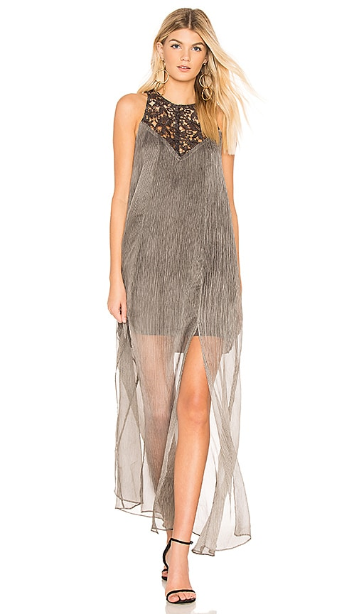 THE JETSET DIARIES Reef Maxi Dress in Charcoal