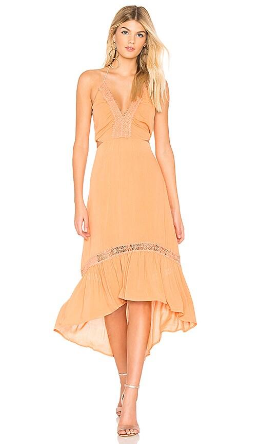 THE JETSET DIARIES Javasu Midi Dress in Orange
