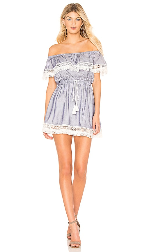 THE JETSET DIARIES Phoebe Mini Dress in Blue