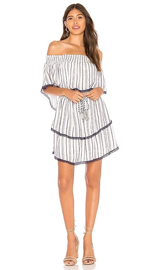 THE JETSET DIARIES Aries Stripe Mini Dress in White