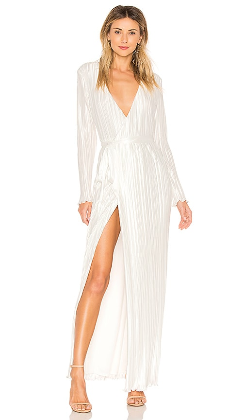 THE JETSET DIARIES Aster Wrap Maxi Dress in White