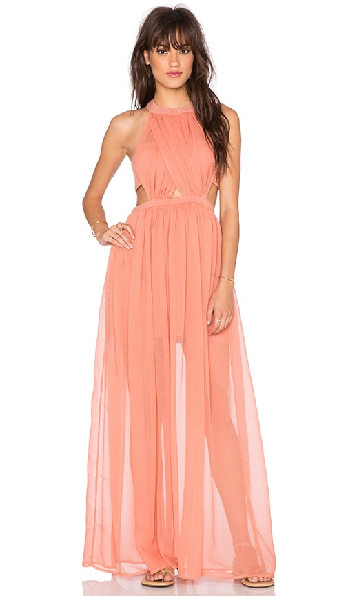 THE JETSET DIARIES Carla Maxi Dress in Orange