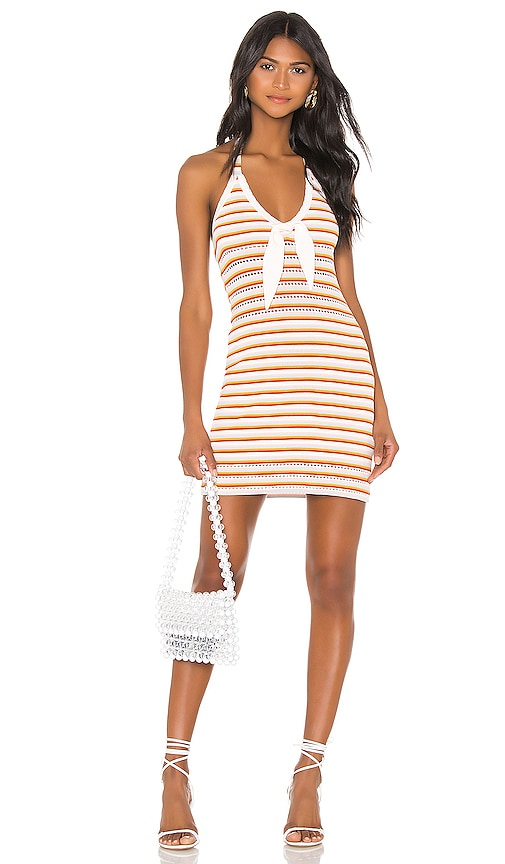 THE JETSET DIARIES Lost My Head Mini Dress in Multi Stripe | REVOLVE