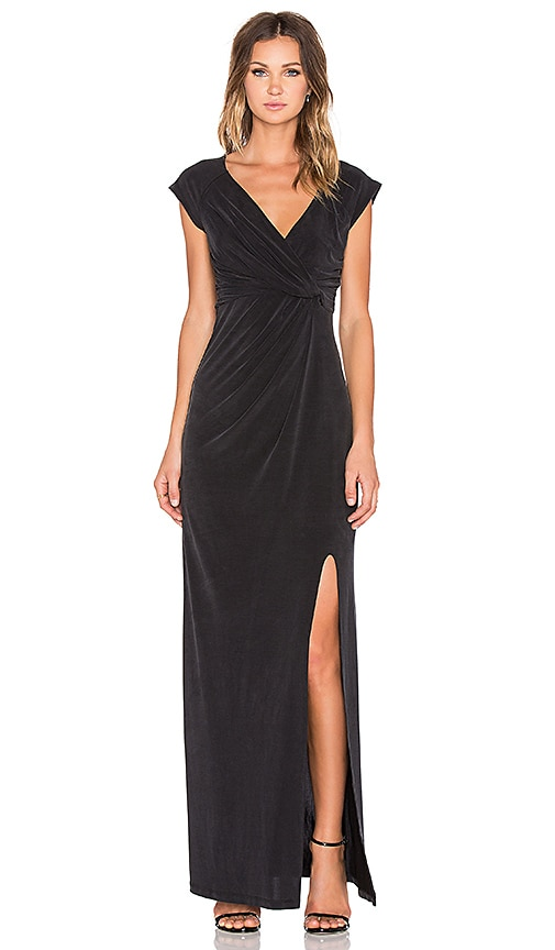 THE JETSET DIARIES Novella Maxi Dress in Black