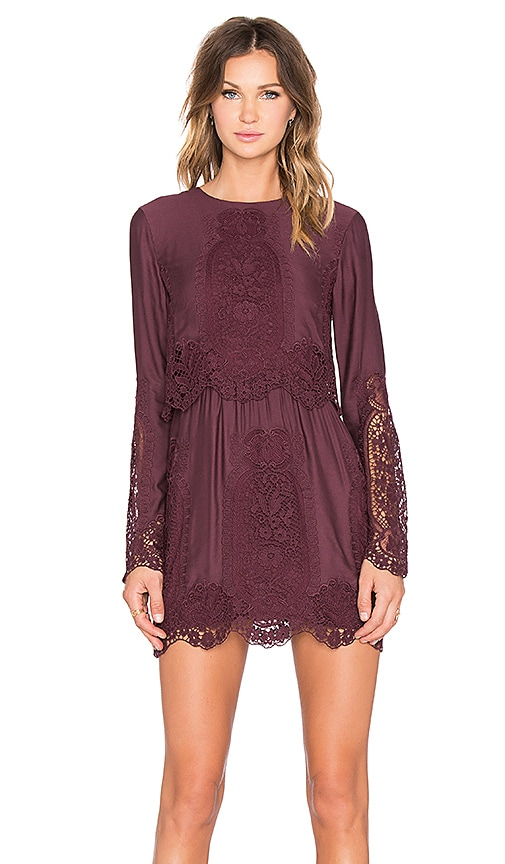 THE JETSET DIARIES Verona Dress in Bordeaux