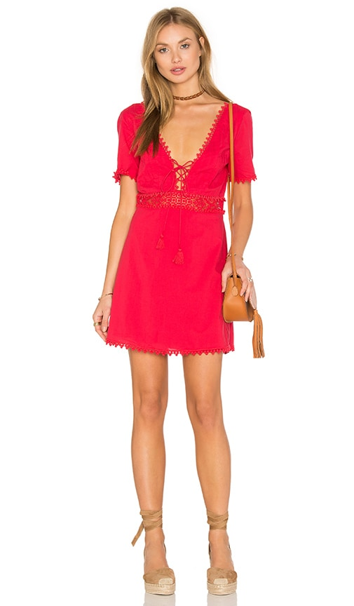 THE JETSET DIARIES Grazie Short Dress in Red