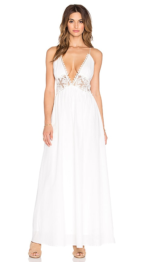 THE JETSET DIARIES Grazie Maxi Dress in White