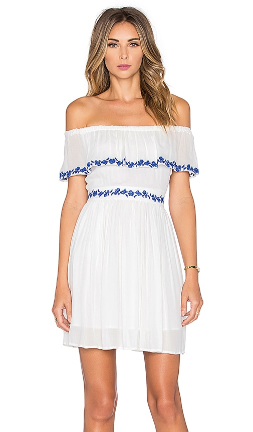 THE JETSET DIARIES Pompeii Ruffle Dress in Ivory