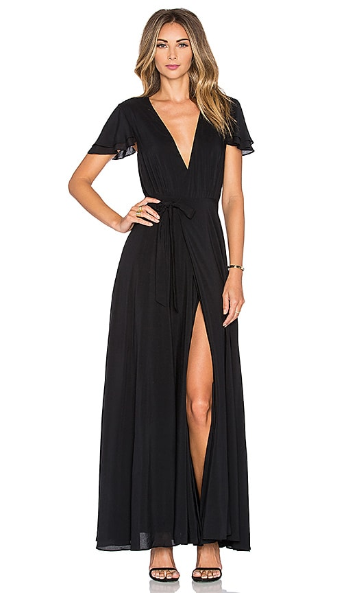 THE JETSET DIARIES Lorenzo Maxi Dress in Black