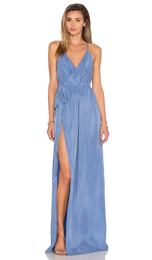 THE JETSET DIARIES Sunset Wrap Dress in Blue