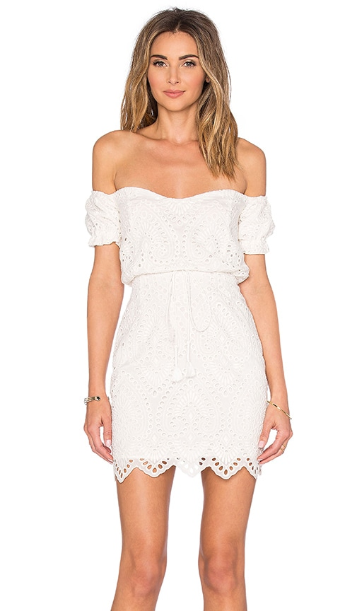 THE JETSET DIARIES Santa Fe Mini Dress in White