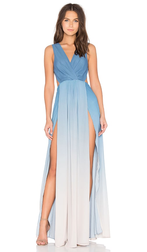 THE JETSET DIARIES x Revolve Caribbean Ombre Maxi Dress in Blue
