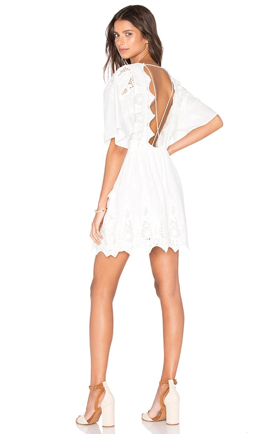 THE JETSET DIARIES Mariposa Dress in Ivory
