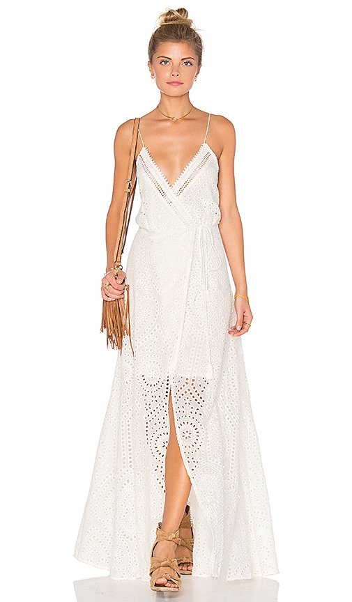 THE JETSET DIARIES Santa Fe Maxi Dress in Ivory