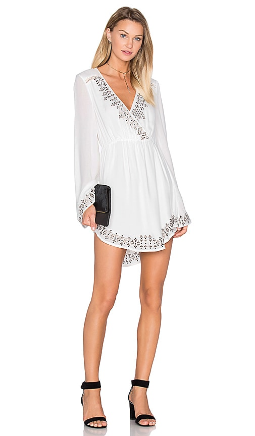 THE JETSET DIARIES Aztec Mini Dress in Ivory