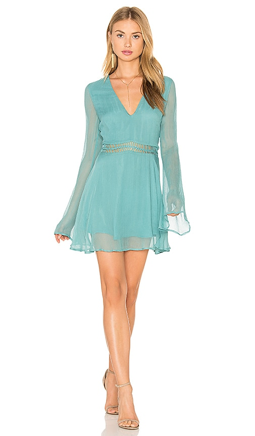 THE JETSET DIARIES La Isla Tunic Dress in Turquoise