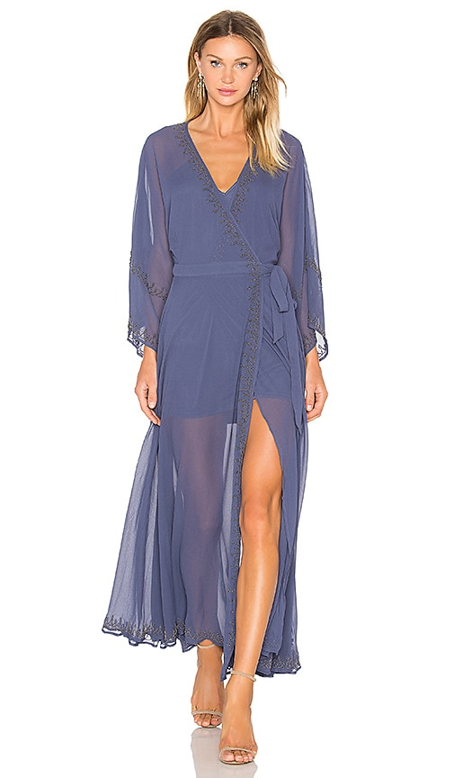 THE JETSET DIARIES Las Perlas Kimono Dress in Blue