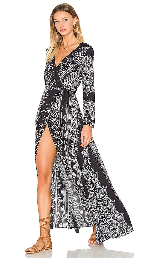 THE JETSET DIARIES Las Estrellas Maxi Dress in Black & White