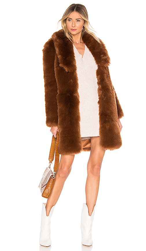 Winter Time Love Faux Fur Coat