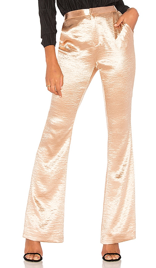 THE JETSET DIARIES Mirabella Flare Pant in Metallic Gold