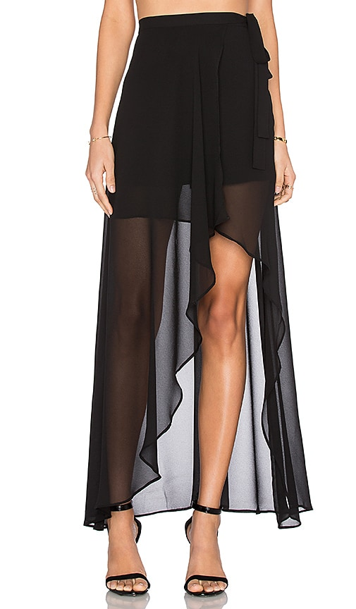 THE JETSET DIARIES Lorenzo Maxi Skirt in Black