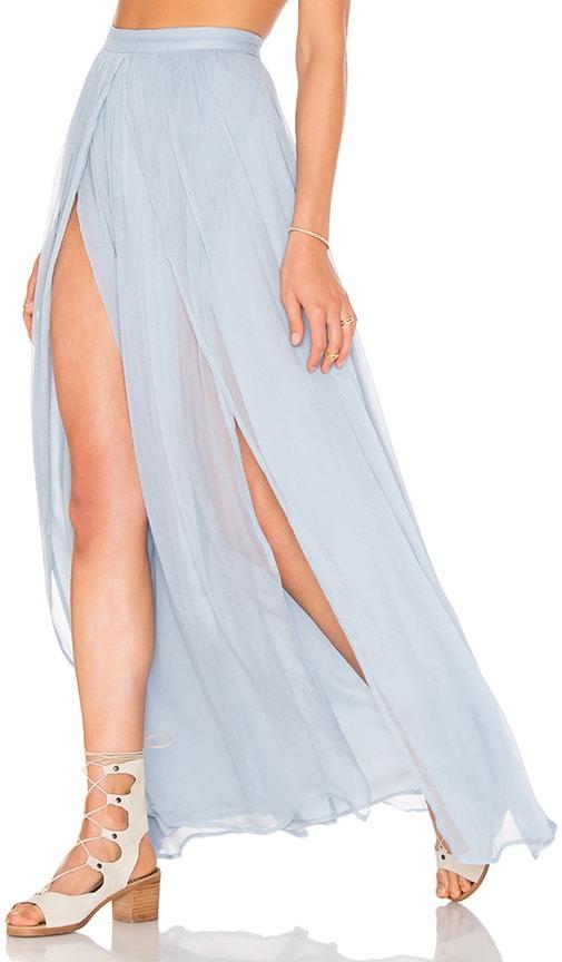 THE JETSET DIARIES x Revolve Prima Maxi Skirt in Blue Lagoon