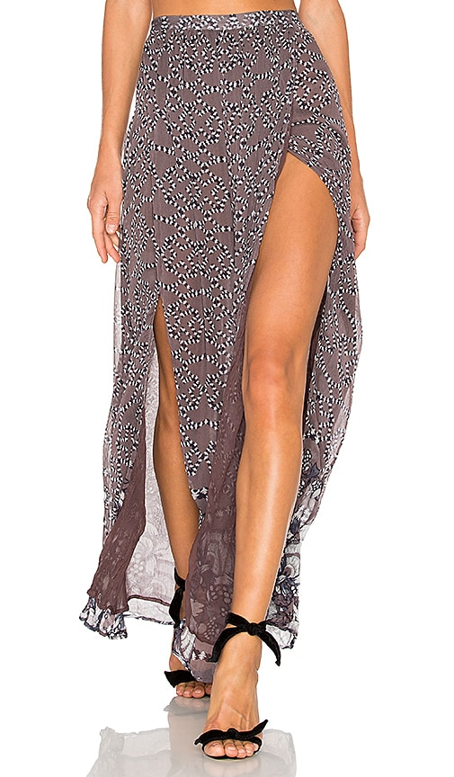THE JETSET DIARIES La Cucaracha Skirt in Gray