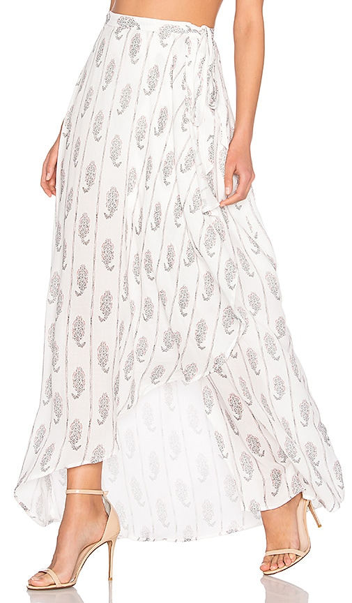 THE JETSET DIARIES Hayworth Maxi Skirt in White
