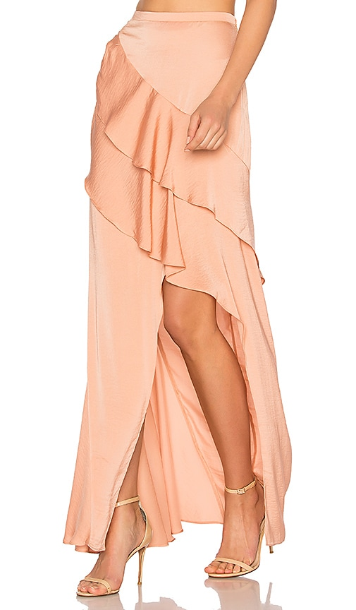THE JETSET DIARIES Omara Maxi Skirt in Coral