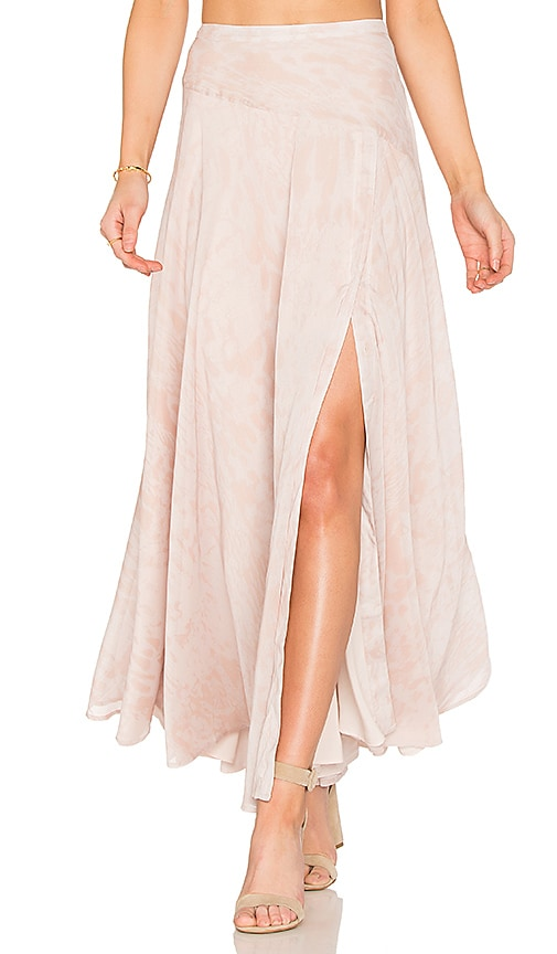 THE JETSET DIARIES Zambia Maxi Skirt in Blush