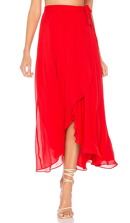 THE JETSET DIARIES Sintra Maxi Skirt in Red