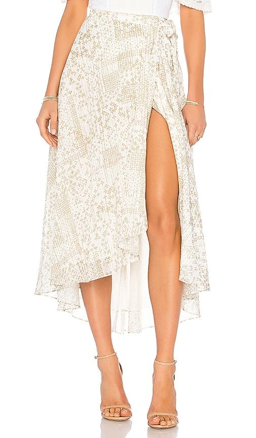 THE JETSET DIARIES Hikueru Maxi Skirt in Ivory