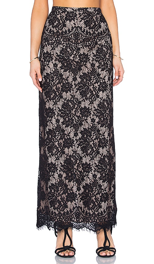 THE JETSET DIARIES Fantasia Maxi Skirt in Black