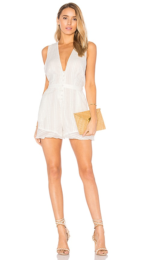 THE JETSET DIARIES Horizon Romper in White