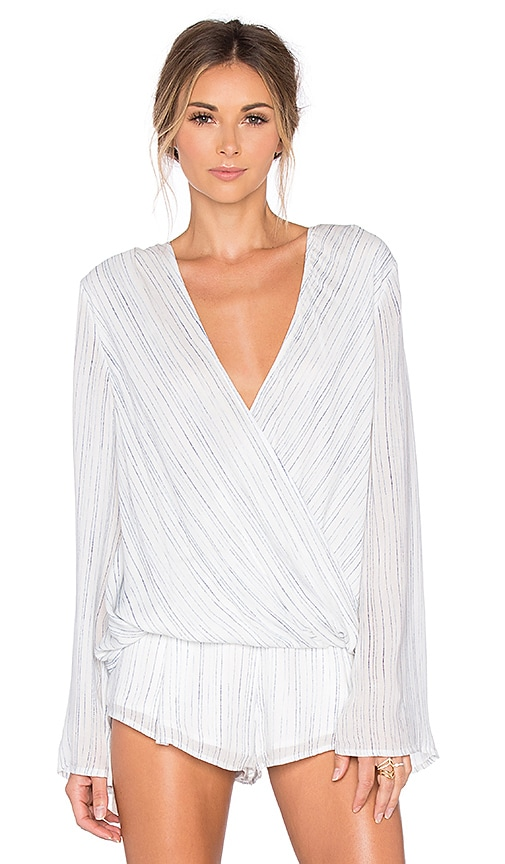 THE JETSET DIARIES Mystic Wrap Top in White