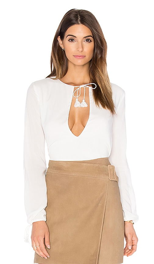THE JETSET DIARIES Verano Blouse in Ivory