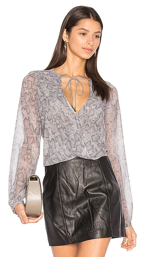 THE JETSET DIARIES Medusa Top in Gray