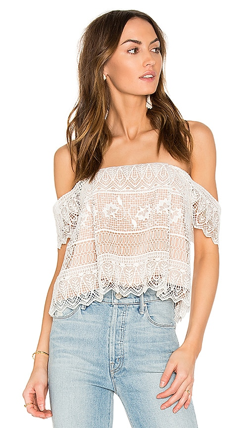 THE JETSET DIARIES Lupita Top in Ivory
