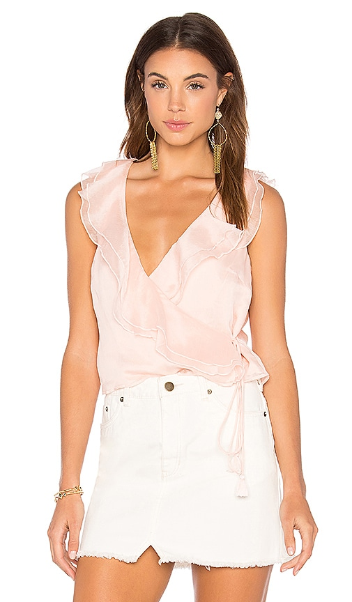 THE JETSET DIARIES Lanza Wrap Top in Blush