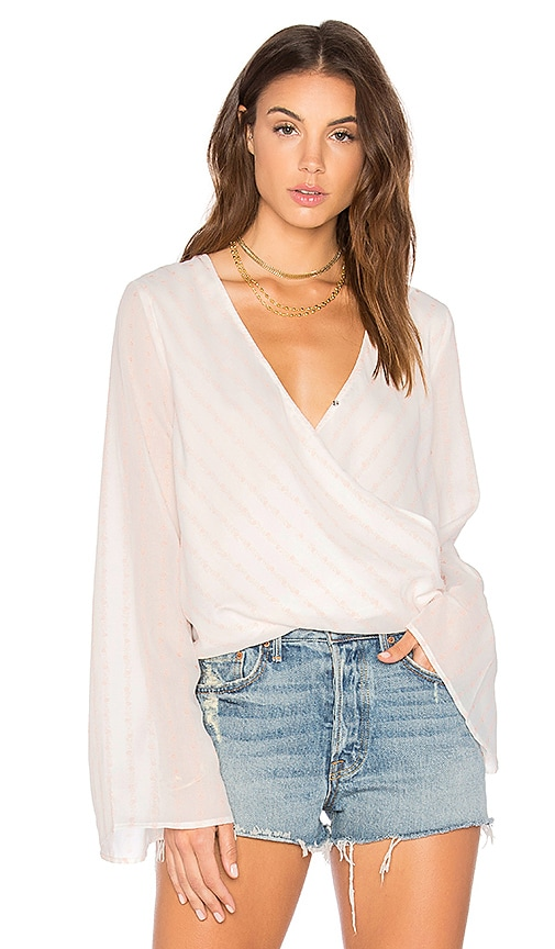 THE JETSET DIARIES Sanja Wrap Top in White