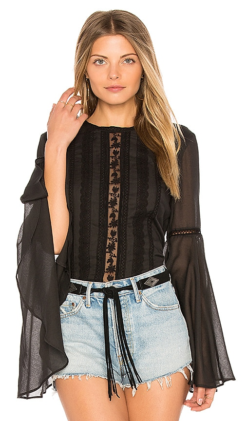 THE JETSET DIARIES Amorie Top in Black