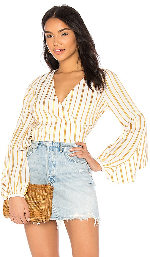 THE JETSET DIARIES Tita Wrap Top in Mustard