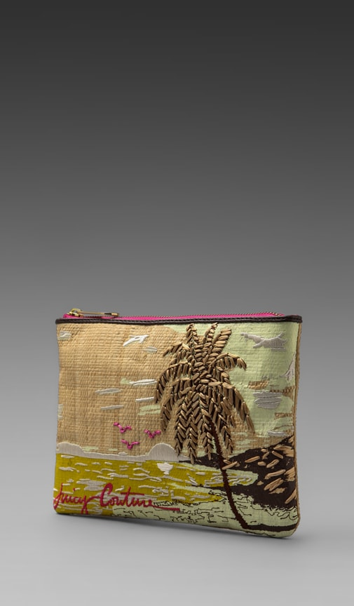 Raffia Palm Tree Pouch