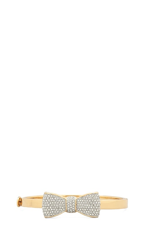 Pave Bow Hinge Bangle