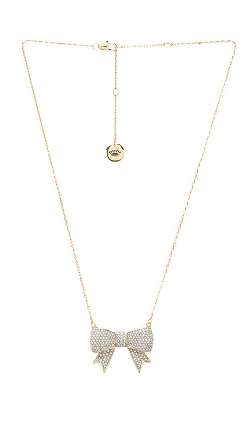 Pave Bow Necklace